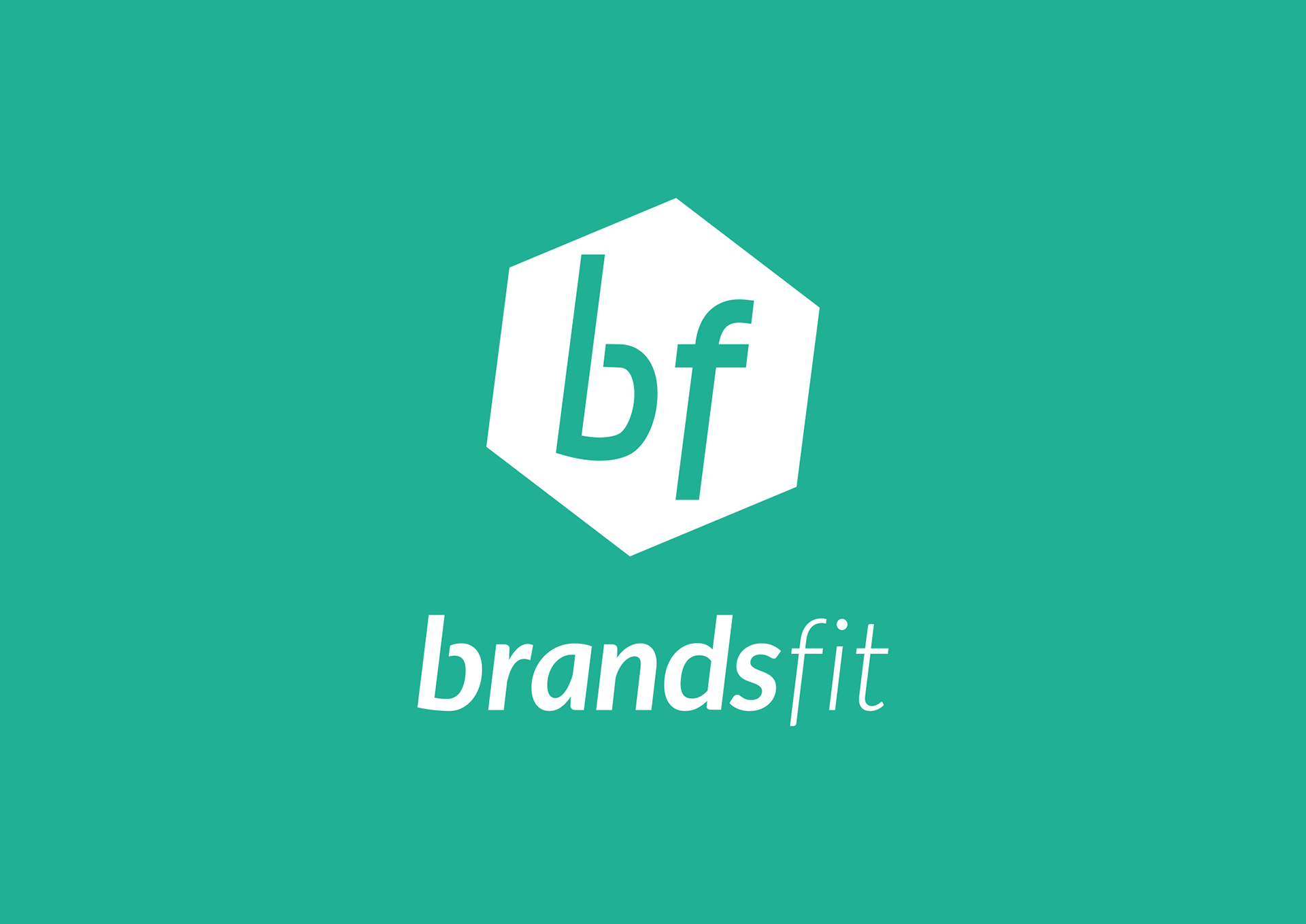 Brandsfit logo in white on green