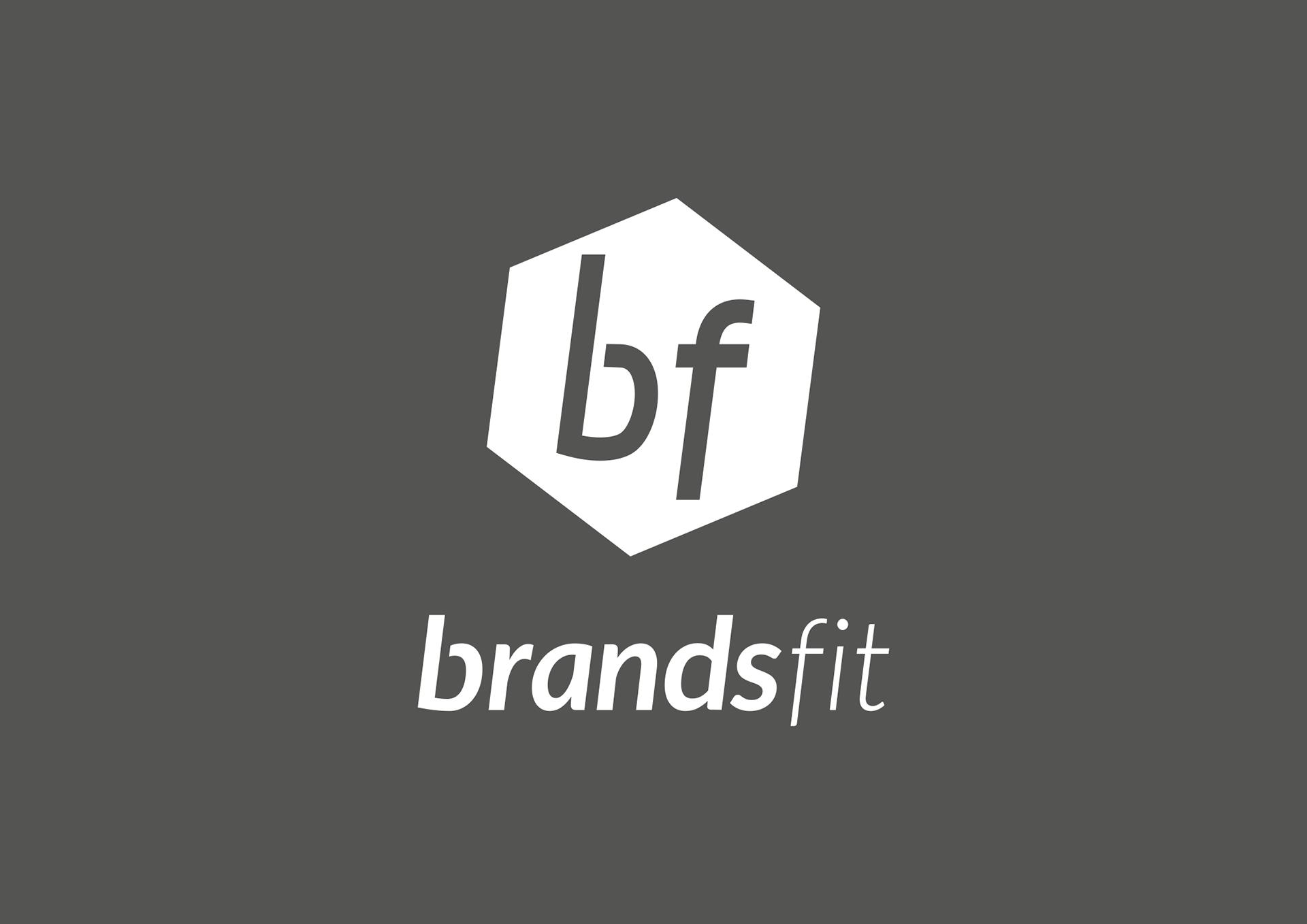 Brandsfit logo in white on black