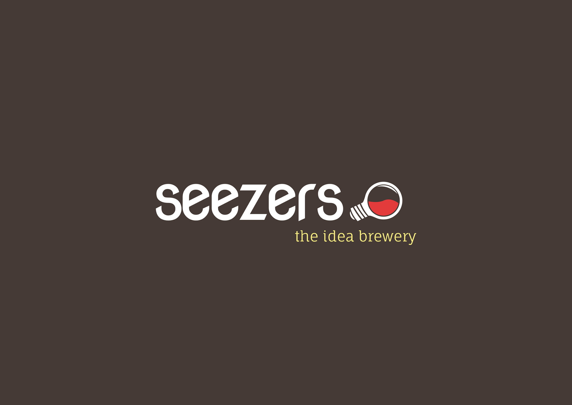 Seezers logo in white on black